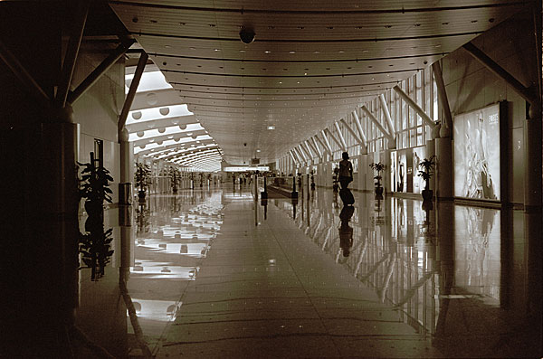 Airport architectural interior photography